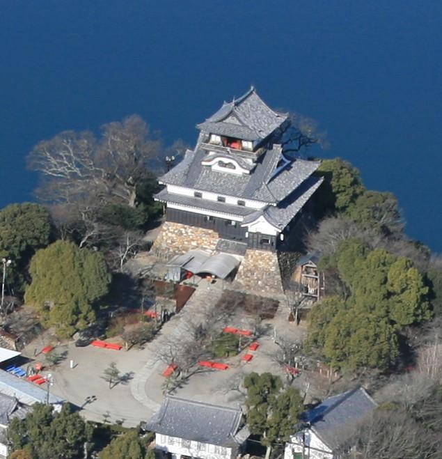 空から見た犬山城