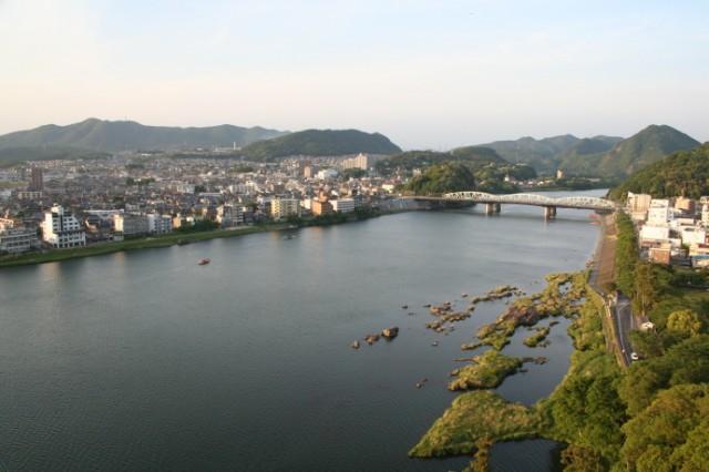 犬山城天守からの眺め